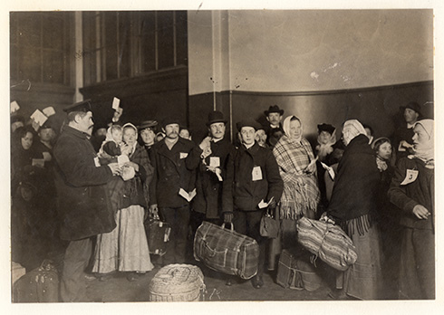 Russian immigrants. Ellis Island, NY circa 1917