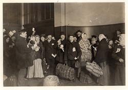 Russian immigrants. Ellis Island, NY circa 1917