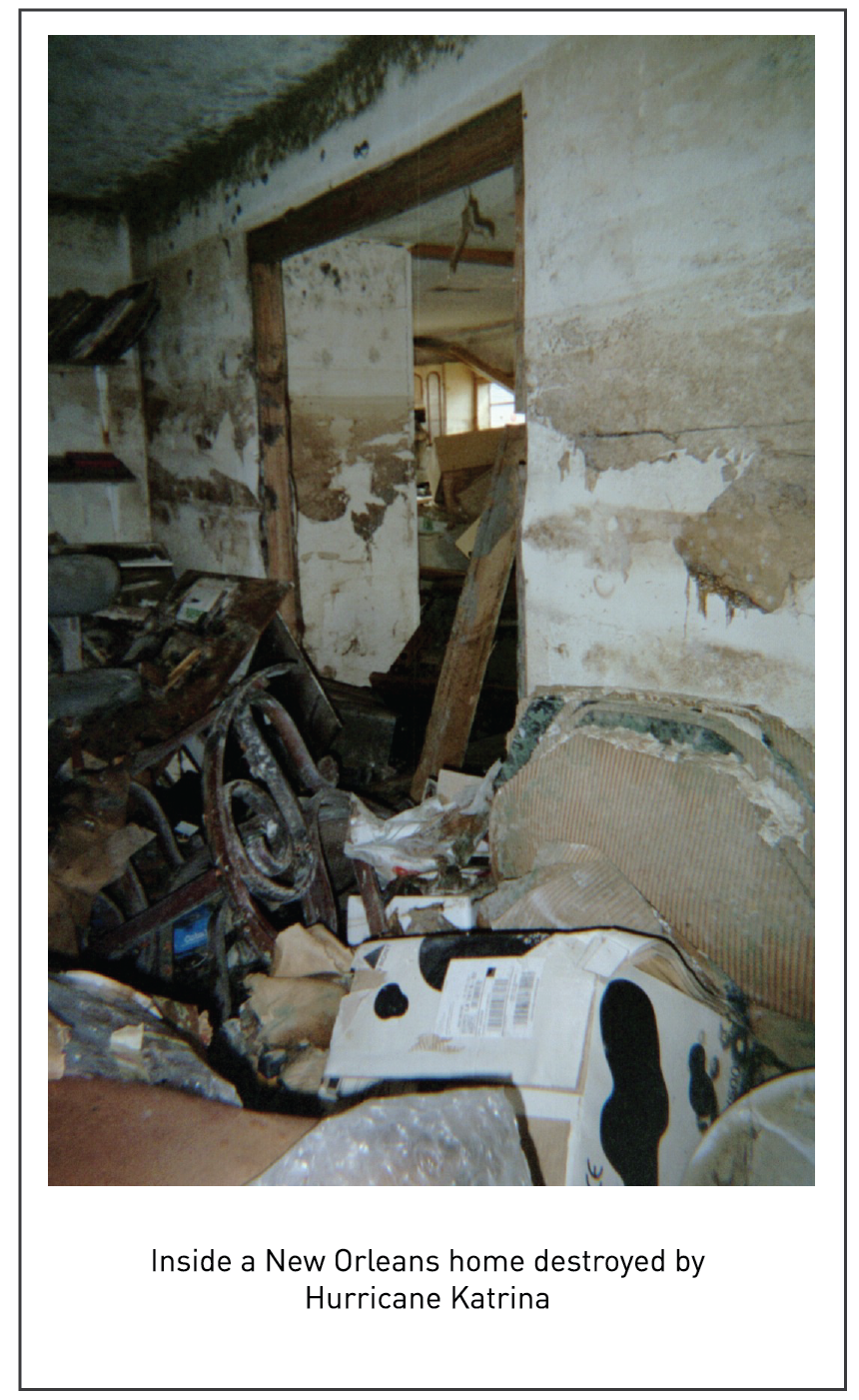 Inside a New Orleans home destroyed by Hurricane Katrina