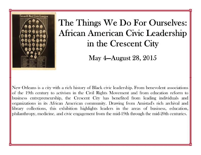 African American Civic Leadership