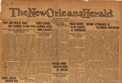 Inaugural issue of The Louisiana Weekly (New Orleans Herald), September 19, 1925.
