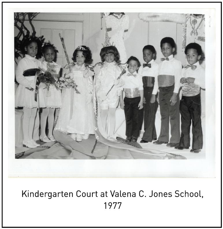 Kindergarten Court at Valena C. Jones School, 1977