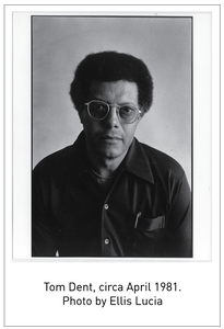 Tom Dent, circa April 1981. Photo by Ellis Lucia