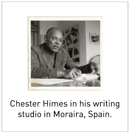Chester Himes in his writing studio in Moraira, Spain.