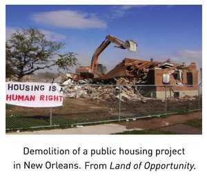 Demolition of a public housing project in New Orleans
