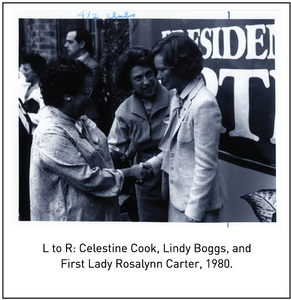 Celestine Cook, Lindy Boggs, and First Lady Rosalynn Carter, 1980.