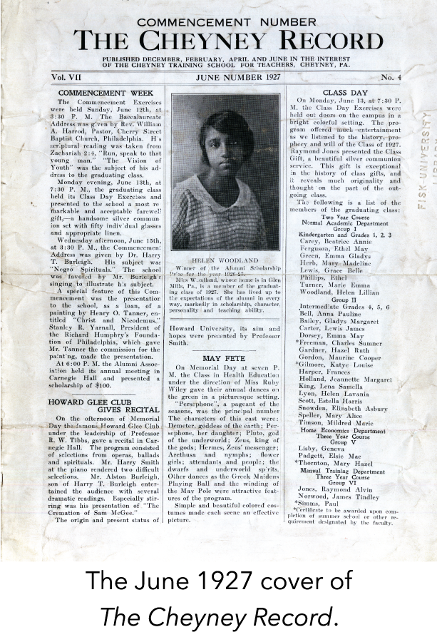 The June 1927 cover of The Cheyney Record.
