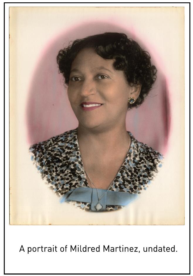 A portrait of Mildred Martinez, undated.