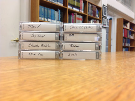 Selection of some of the newly donated video interviews to Amistad