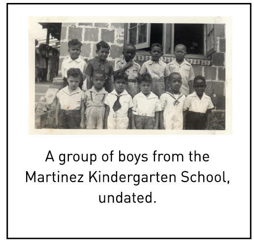 A group of boys from the Martinez Kindergarten School, undated.