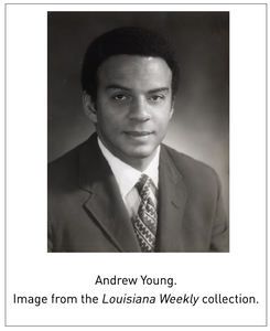Andrew Young. Image from the Louisiana Weekly collection.
