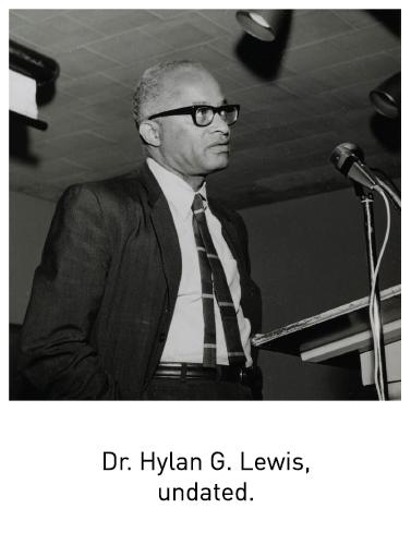 Dr. Hylan G. Lewis, undated.