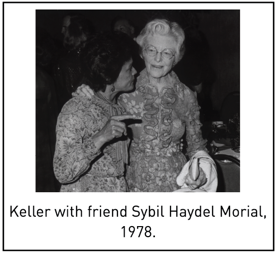 Keller with friend Sybil Haydel Morial, 1978.