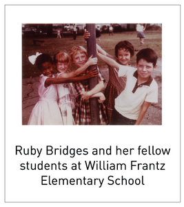 Ruby Bridges and her fellow students at William Frantz Elementary School