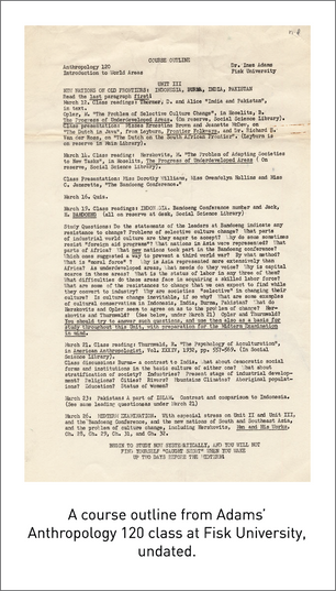 50 Years/50 Collections: Notes From the Anthropologist Inez Adams on Race and Integration