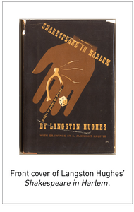 Front cover of Langston Hughes' Shakespeare in Harlem.