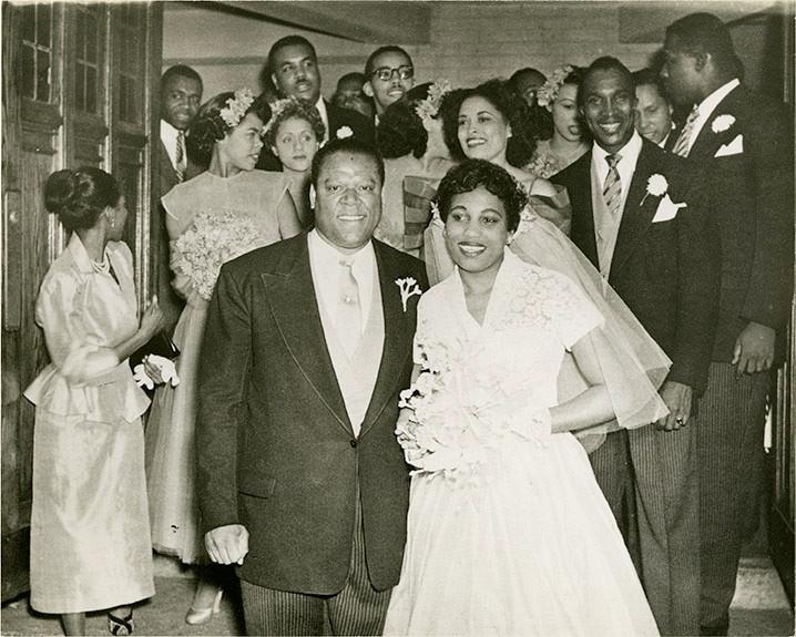 Photograph: William Warfield and Leontyne Price's wedding, August 1952