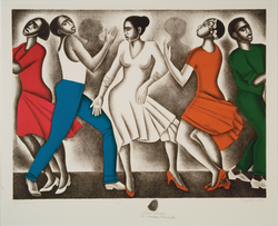 'Dancing', Lithograph, 1990.