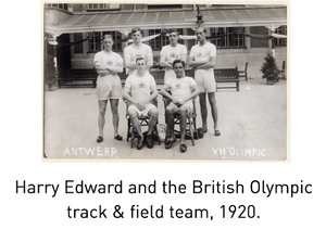 Harry Edward and the British Olympic track & field team, 1920.