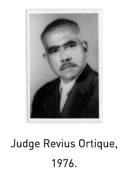 Judge Revius Ortique, 1976.