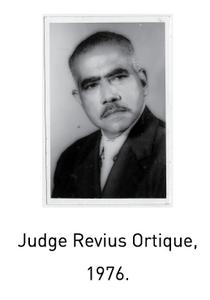 Judge Revius Ortique, 1976.