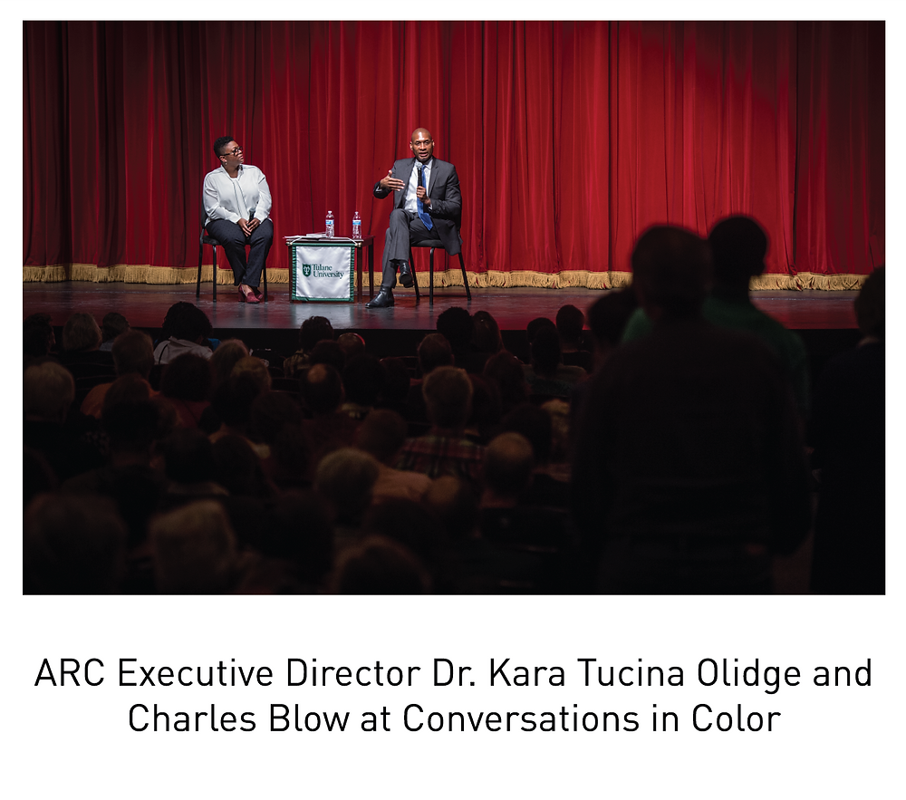 ARC Executive Director Dr. Kara Tucina Olidge and Charles Blow at Conversations in Color