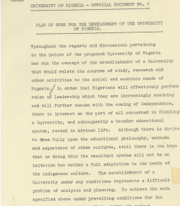 Marguerite Cartwright and the University of Nigeria