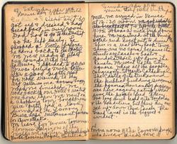 Irene Dobb's travel diary while in Venice, Italy, April 1952.