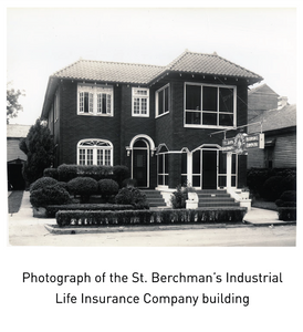 Photograph of the St. Berchman's Industrial Life Insurance Company building
