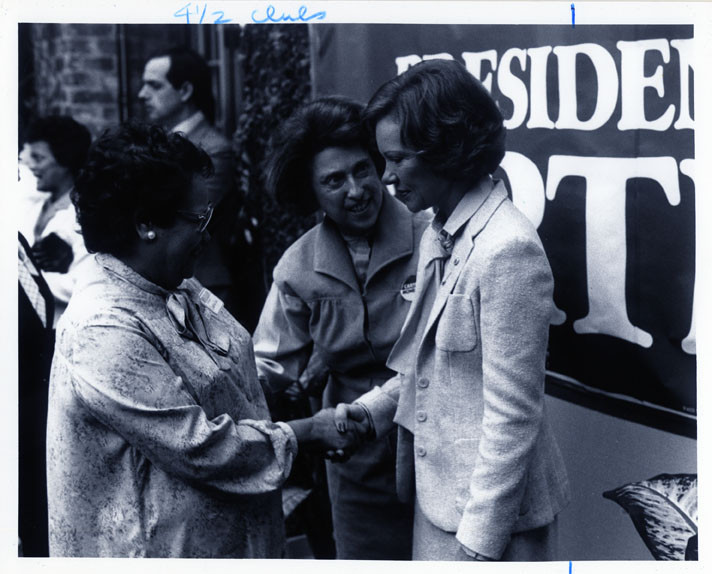 Left to right: Celestine Cook, Lindy Boggs, and First Lady Rosalynn Carter, 1980.