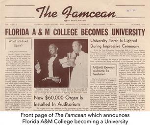 Florida A&M Chronicled through its Newspaper
