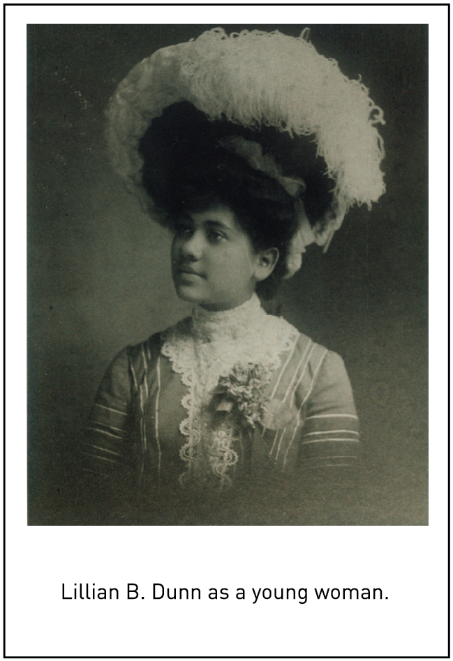 Lillian B. Dunn as a young woman.