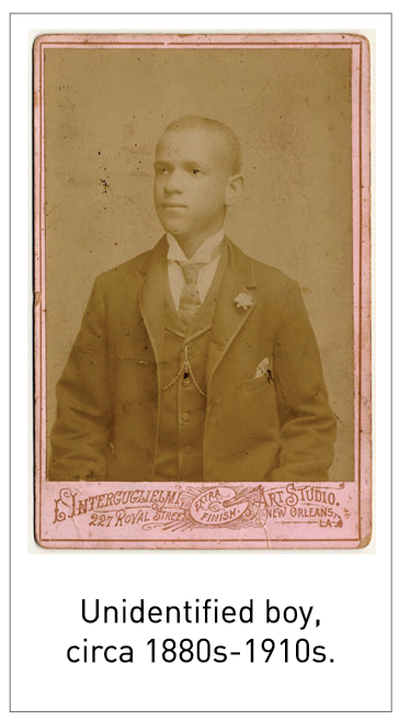 Unidentified boy, circa 1880s-1910s.