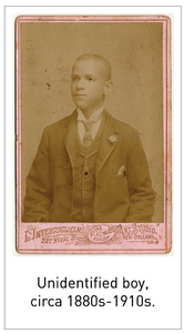 Unidentified boy, circa 1880s-1910s.
