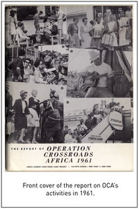 Front cover of the report on OCA's activities in 1961.