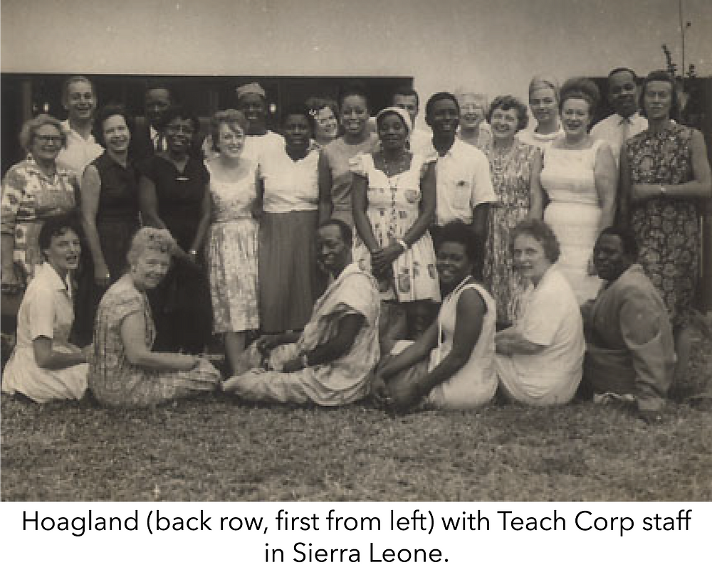 Hoagland (back row, first from left) with Teach Corp staff in Sierra Leone.