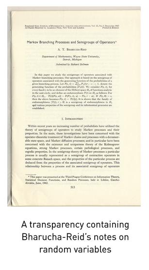 Albert T. Bharucha-Reid Papers