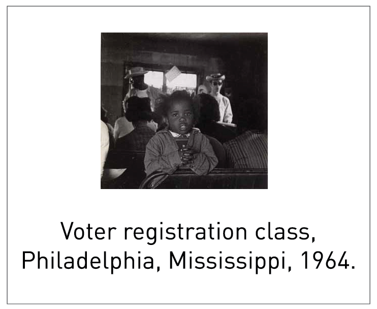 Voter registration class, Philadelphia, Mississippi, 1964.