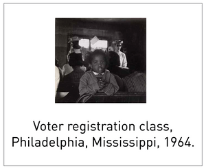 Voter registration class, Philadelphia, Mississippi, 1964.