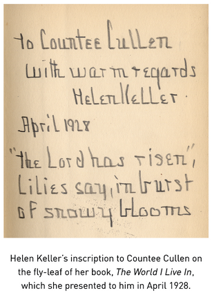 """From the Stacks: """"Your spirit speaking to mine…"""" – The Poetic Conversation of Helen Keller and Count"""