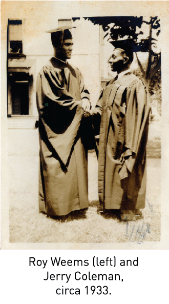 Roy Weems (left) and Jerry Coleman, circa 1933.