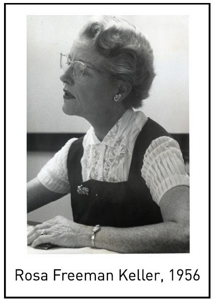 Rosa Freeman Keller, 1956