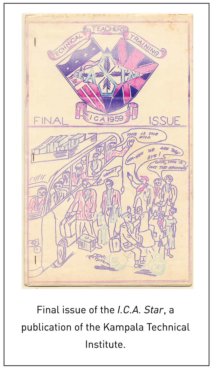 Final issue of the I.C.A. Star, a publication of the Kampala Technical Institute.
