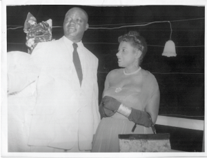 Dr. Marguerite Cartwright and Sir Mobolaji Bank-Anthony