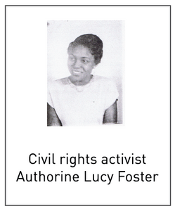 Civil rights activistAuthorine Lucy Foster
