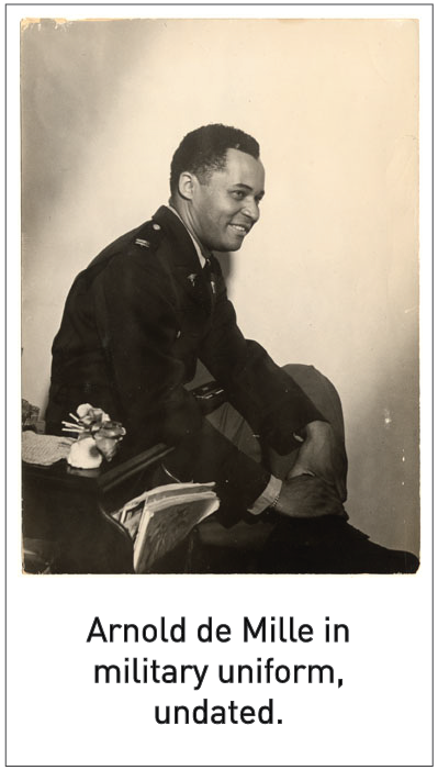 Arnold de Mille in military uniform, undated.