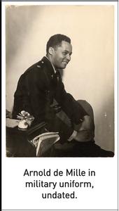 Arnold de Mille in military uniform, undated.