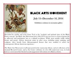 Exhibit: Black Arts Movement
