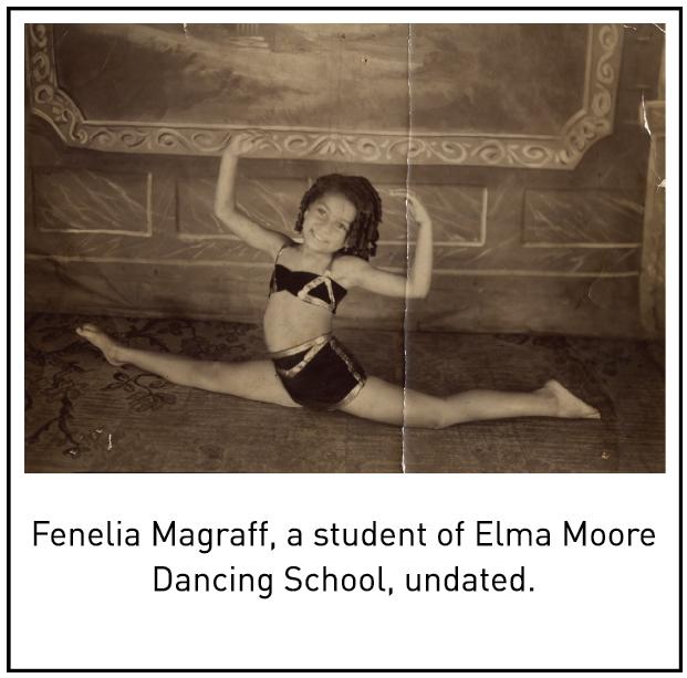 Fenelia Magraff, a student of Elma Moore Dancing School, undated.