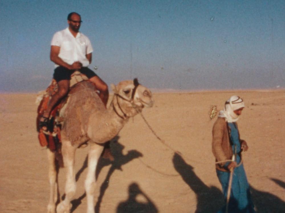An FSC member rides a camel in Israel